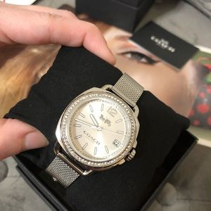 NWT Women's Coach Silver Watch